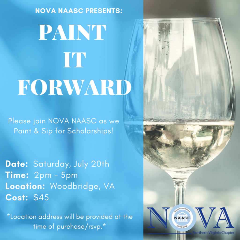 Paint and Sip for Scholarships - A NoVA NAASC Scholarship Fundraising Event